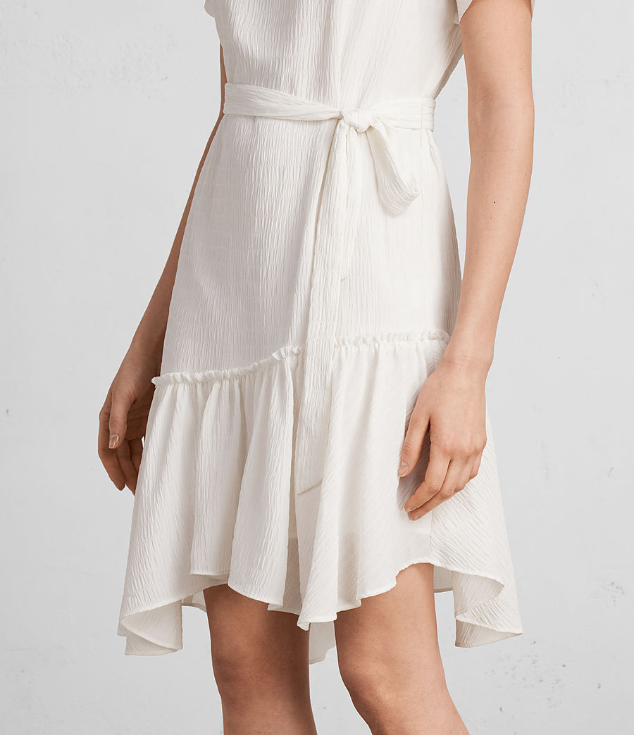 Women's Sara Textured Dress (chalk_white) - Image 3