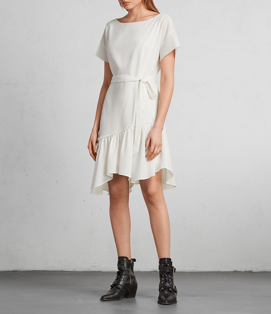 Women's Sara Textured Dress (chalk_white) - Image 4
