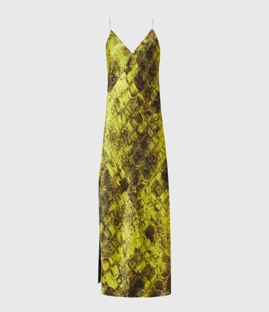 Womens Melody Mirus Silk Blend Dress (lime_green) - Image 2