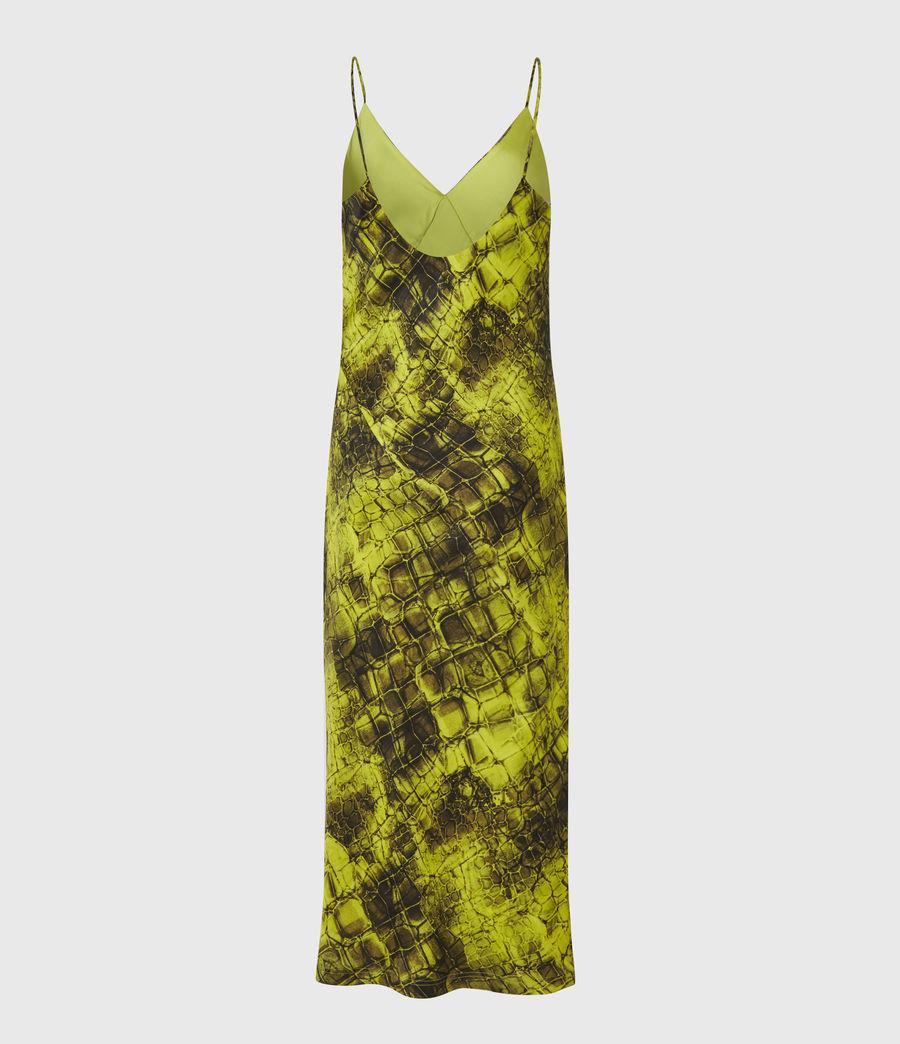 Womens Melody Mirus Silk Blend Dress (lime_green) - Image 3