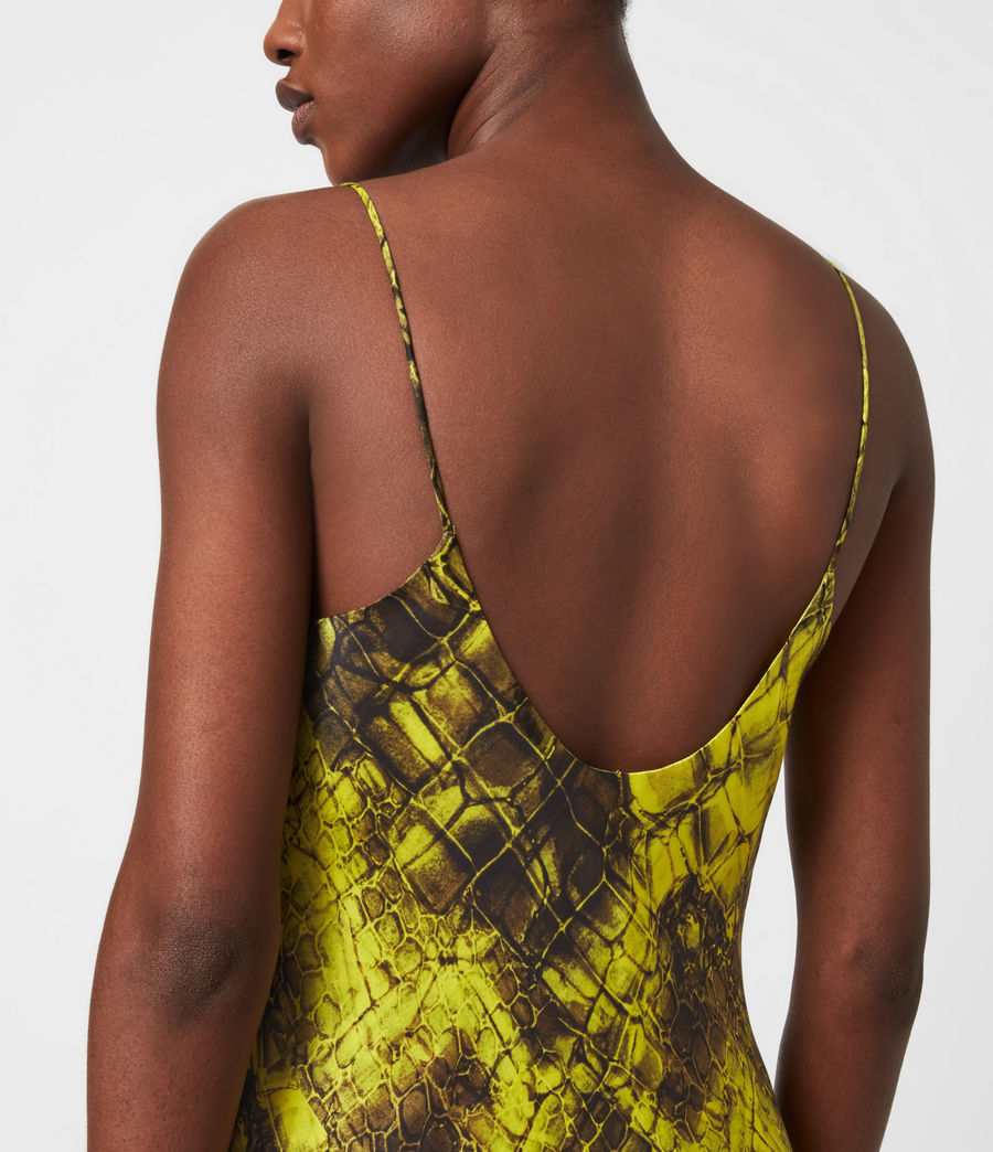 Womens Melody Mirus Silk Blend Dress (lime_green) - Image 4