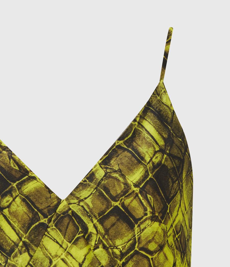 Womens Melody Mirus Silk Blend Dress (lime_green) - Image 5