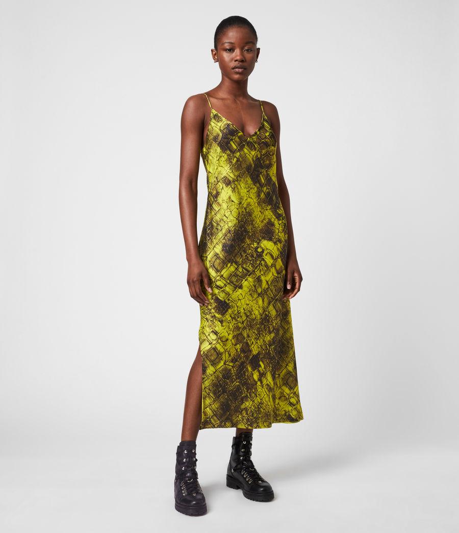 Womens Melody Mirus Silk Blend Dress (lime_green) - Image 6