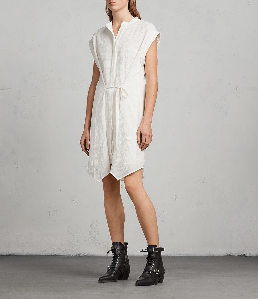 Womens Meda Textured Shirt Dress (chalk_white) - Image 1