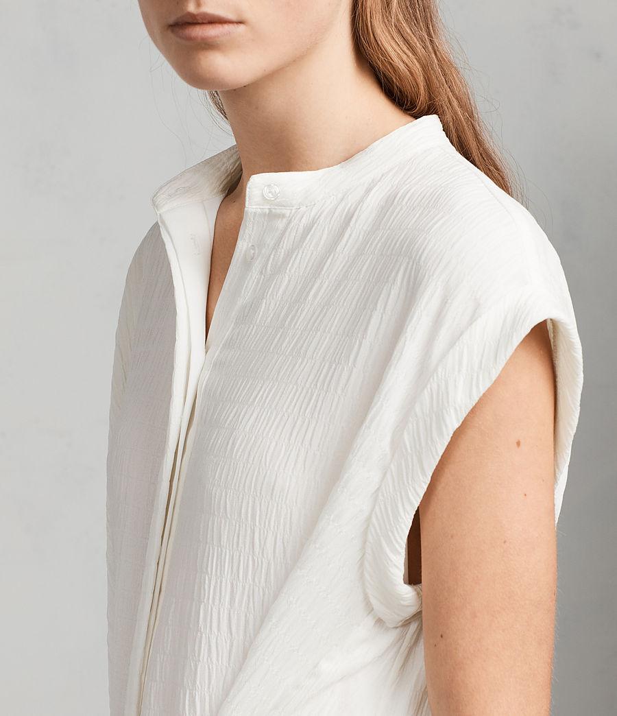 Womens Meda Textured Shirt Dress (chalk_white) - Image 2
