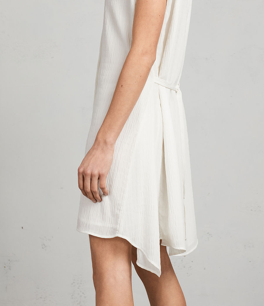 Womens Meda Textured Shirt Dress (chalk_white) - Image 4