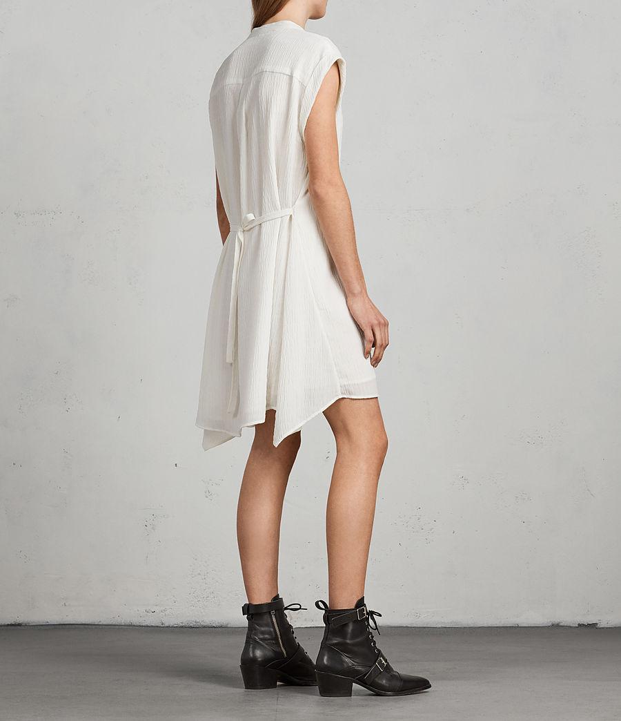 Womens Meda Textured Shirt Dress (chalk_white) - Image 6
