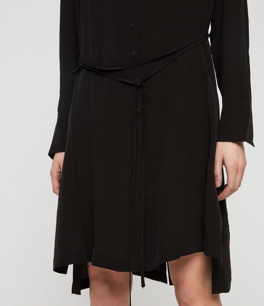 Womens Anya Shirt Dress (black) - Image 4
