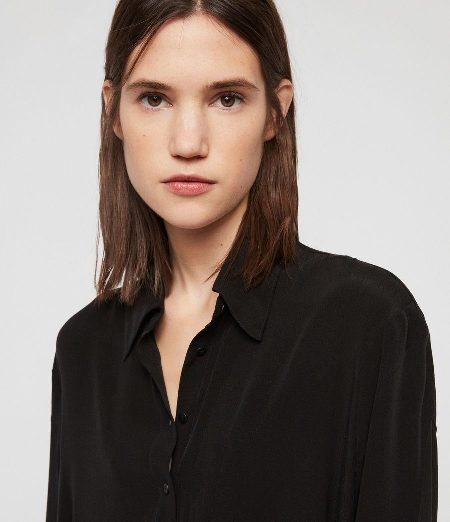 Women's Anya Shirt Dress (black) - Image 5