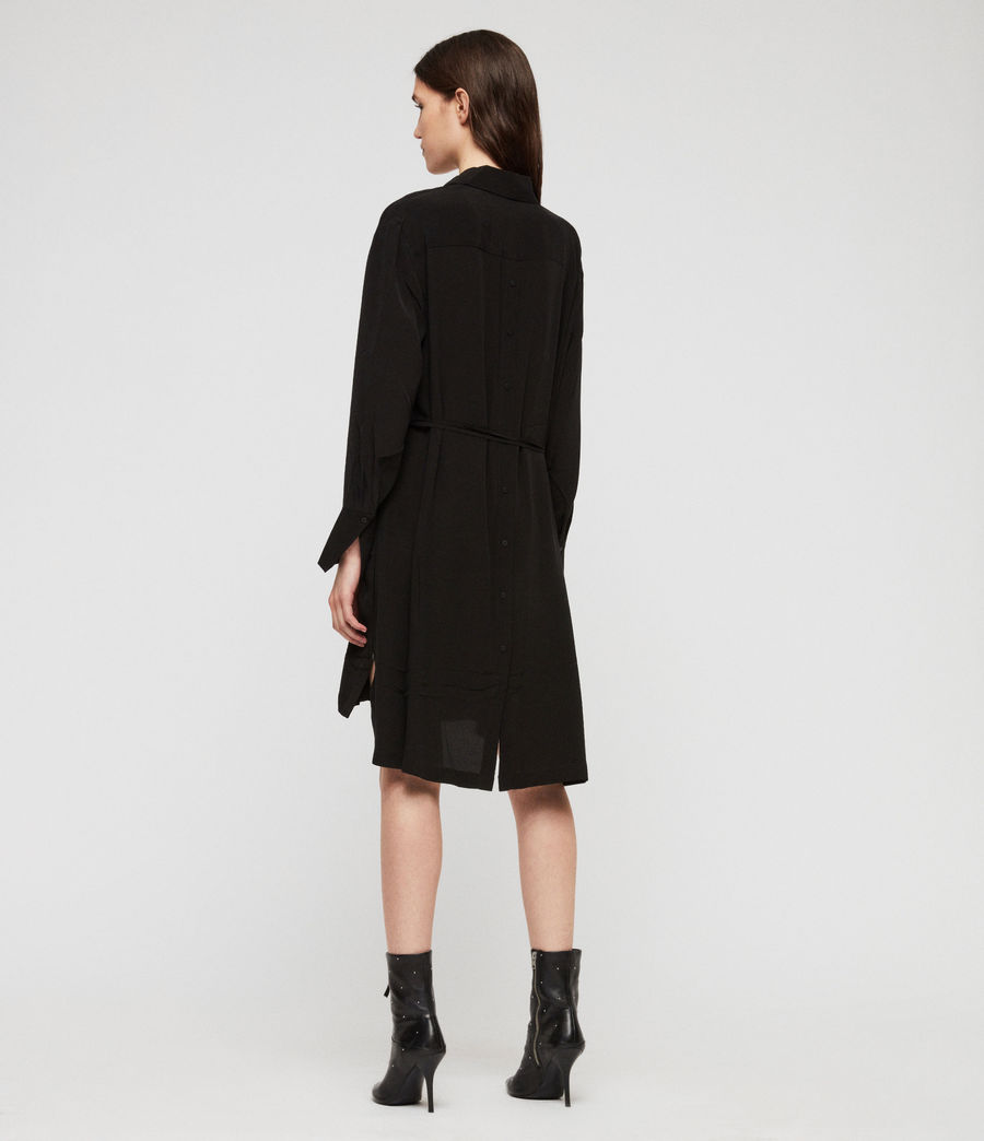 Women's Anya Shirt Dress (black) - Image 6