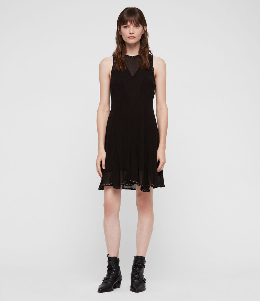 Womens Eleanor Stud Dress (black) - Image 1