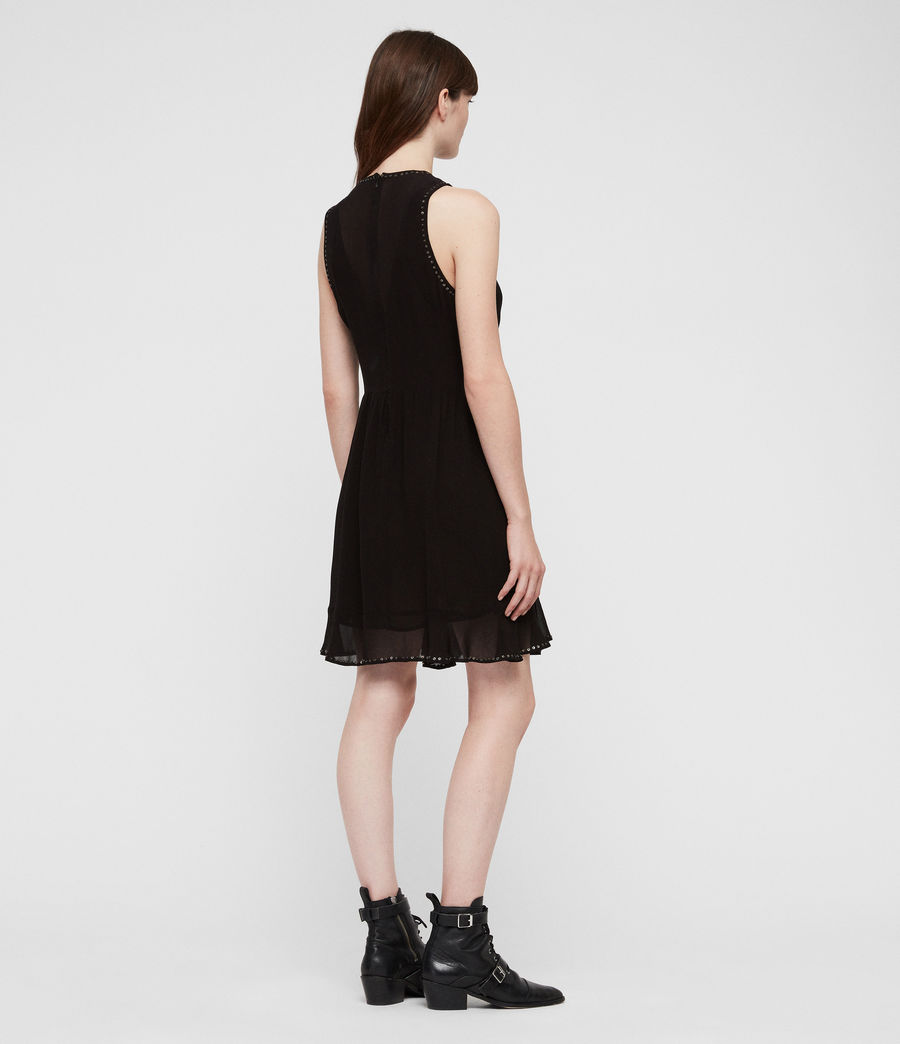 Womens Eleanor Stud Dress (black) - Image 5