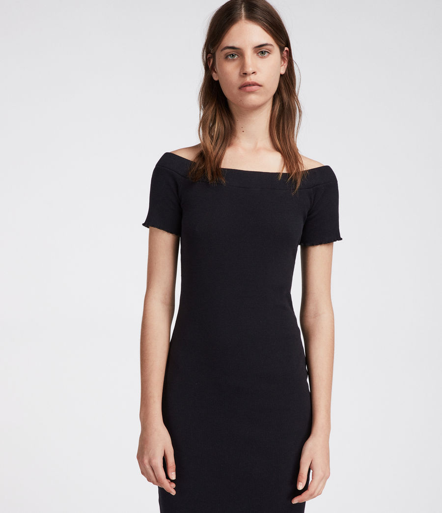 Womens Lora Dress (black) - Image 1