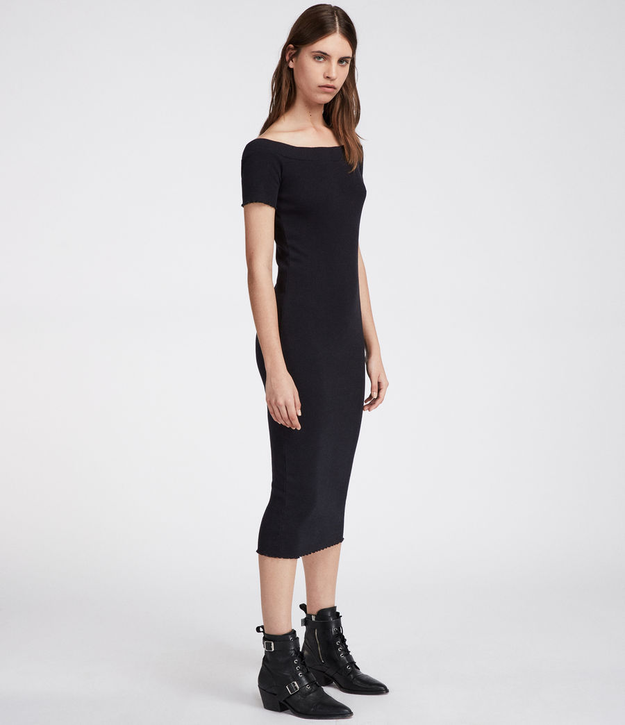 Womens Lora Dress (black) - Image 2