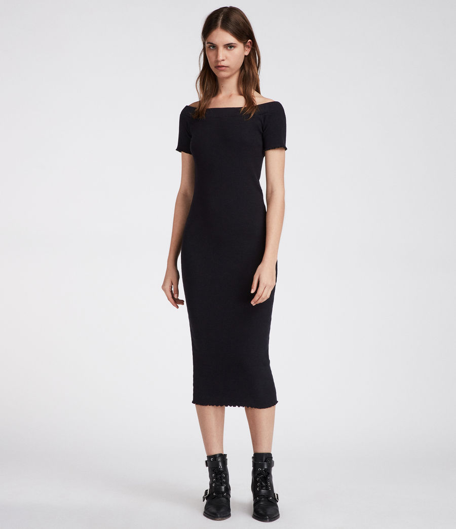 Womens Lora Dress (black) - Image 3