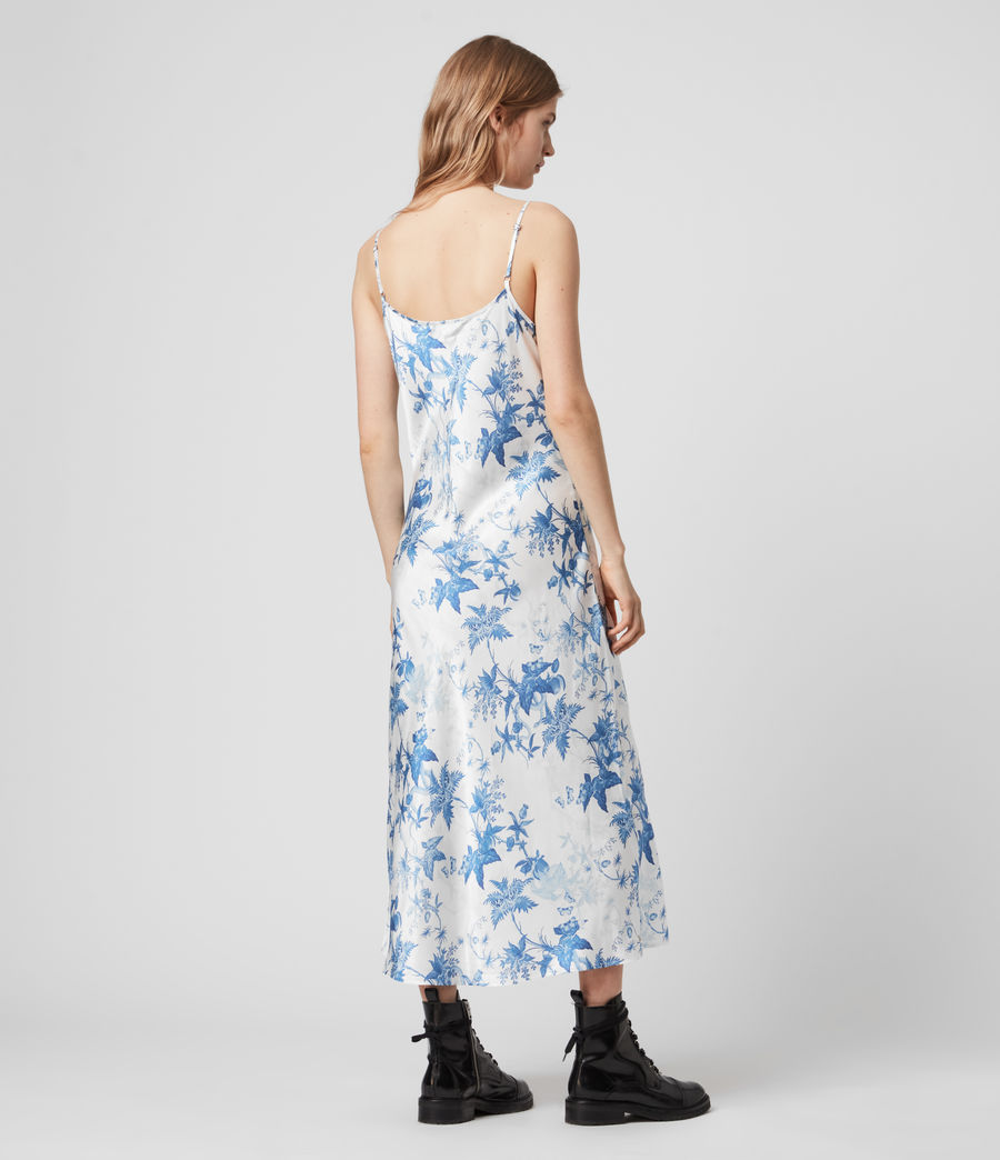 Mujer Tierney Silk Blend Evolution Slip Dress (cornflower_blue) - Image 5