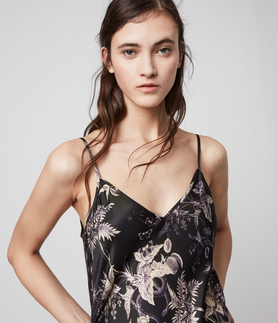 Mujer Tierney Silk Blend Evolution Slip Dress (midnight_purple) - Image 2