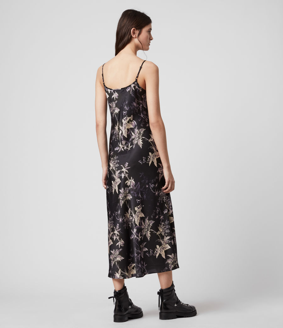 Mujer Tierney Silk Blend Evolution Slip Dress (midnight_purple) - Image 5