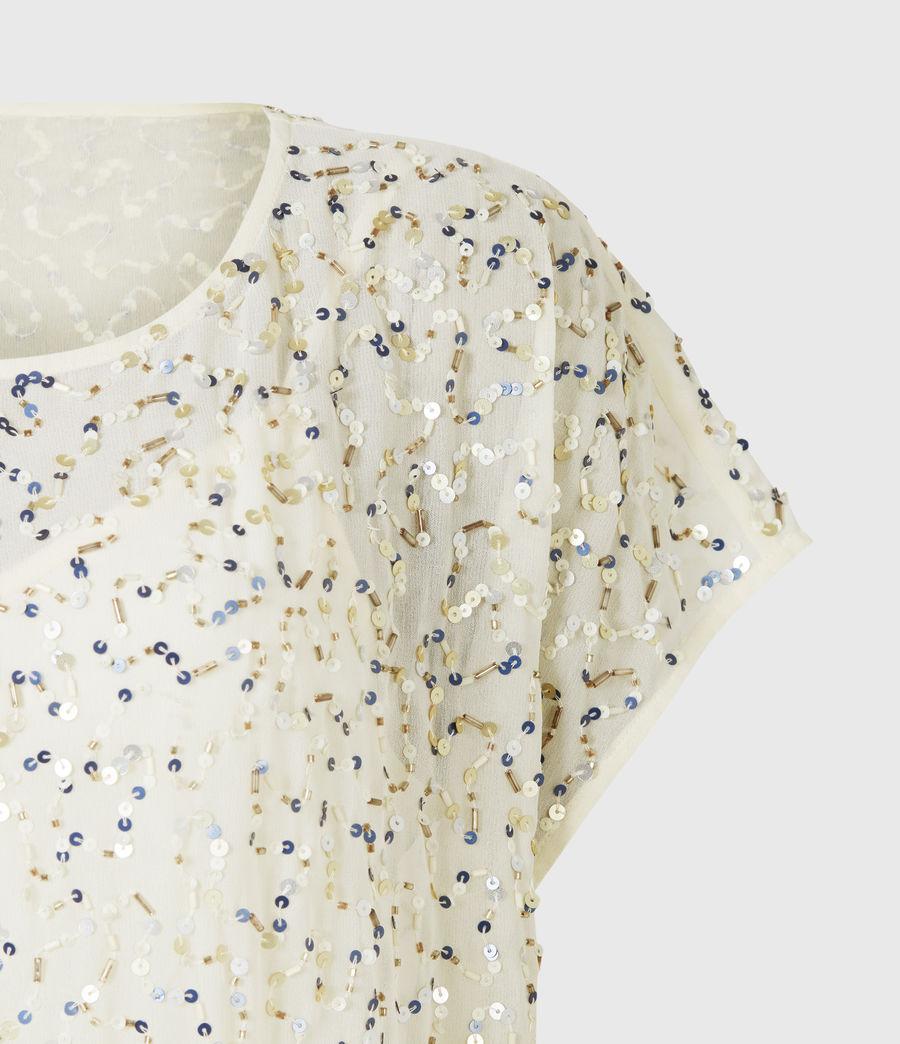 Femmes Loren Embellished Dress (pearl_gold) - Image 5