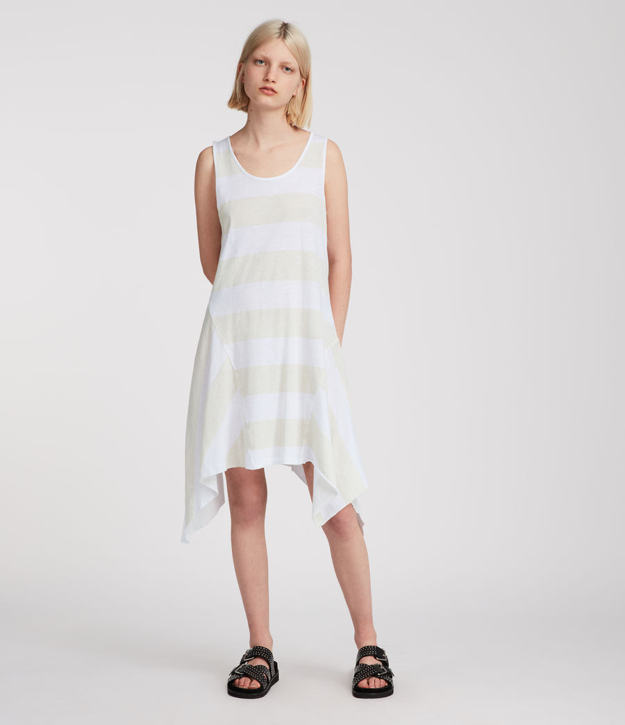Women's Ella Stripe Dress (vintage_opticwhite) - Image 2