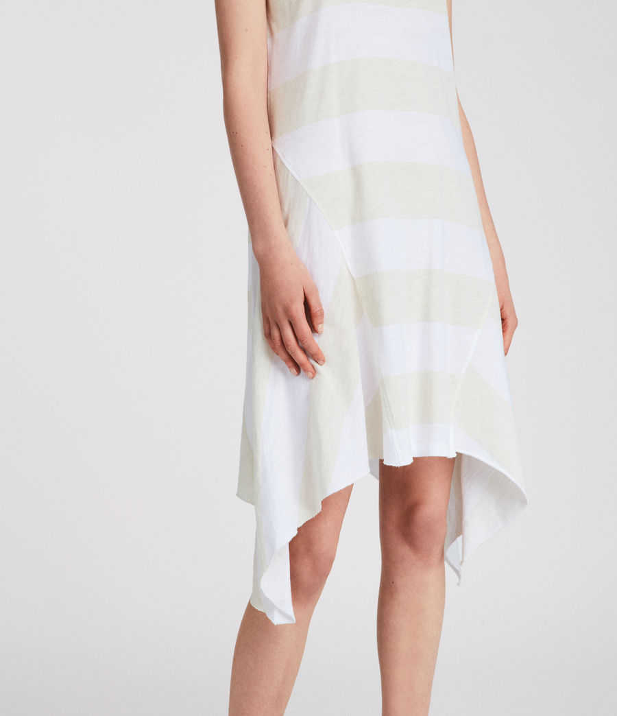 Women's Ella Stripe Dress (vintage_opticwhite) - Image 3