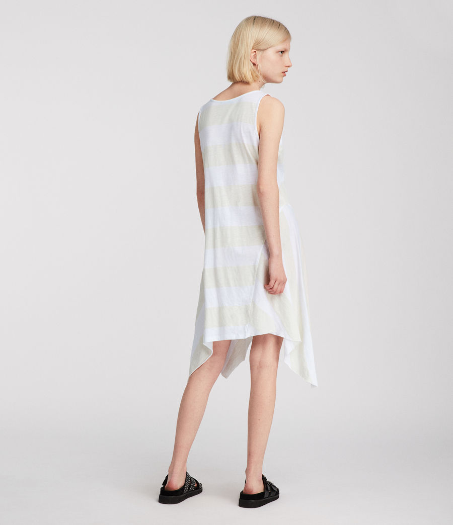 Womens Ella Stripe Dress (vintage_opticwhite) - Image 4