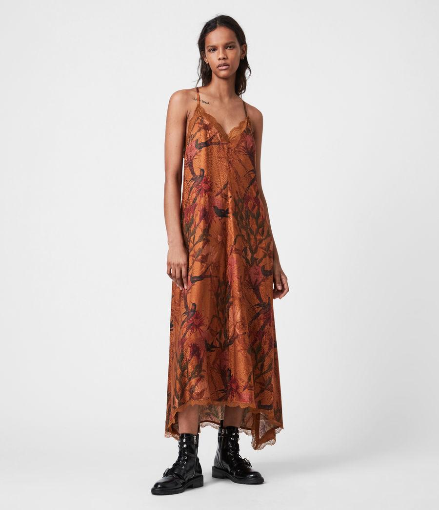 Women's Seinie Nolina Silk Blend Dress (cinnamon_brown) - Image 1