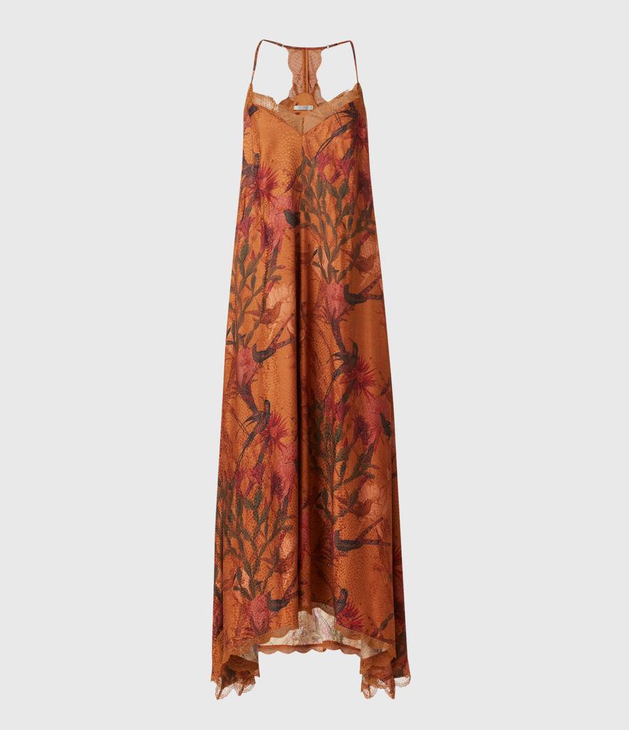 Women's Seinie Nolina Silk Blend Dress (cinnamon_brown) - Image 2