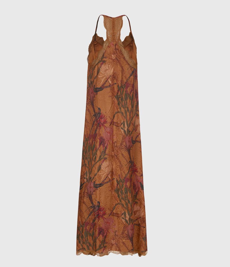 Women's Seinie Nolina Silk Blend Dress (cinnamon_brown) - Image 3