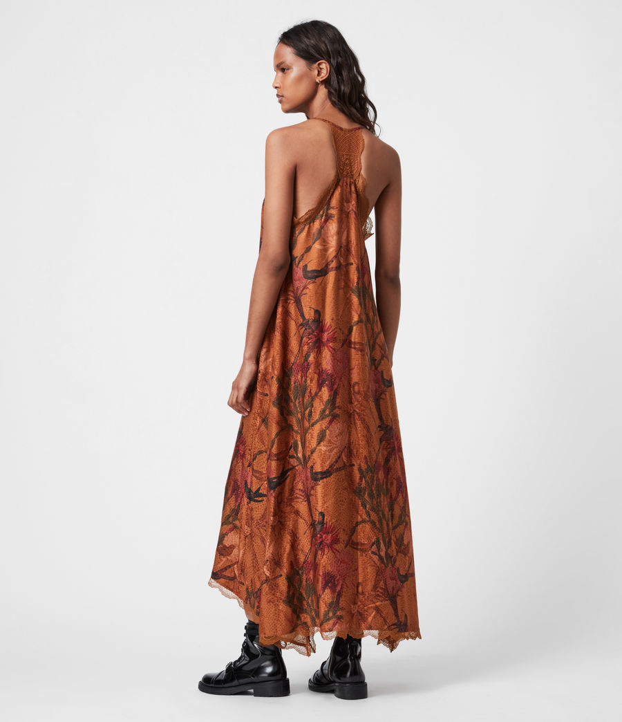 Women's Seinie Nolina Silk Blend Dress (cinnamon_brown) - Image 4