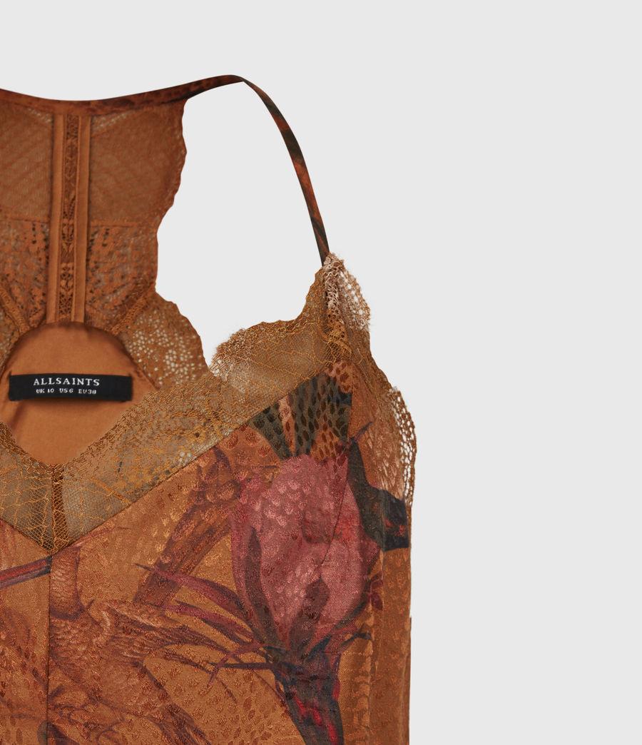 Women's Seinie Nolina Silk Blend Dress (cinnamon_brown) - Image 5