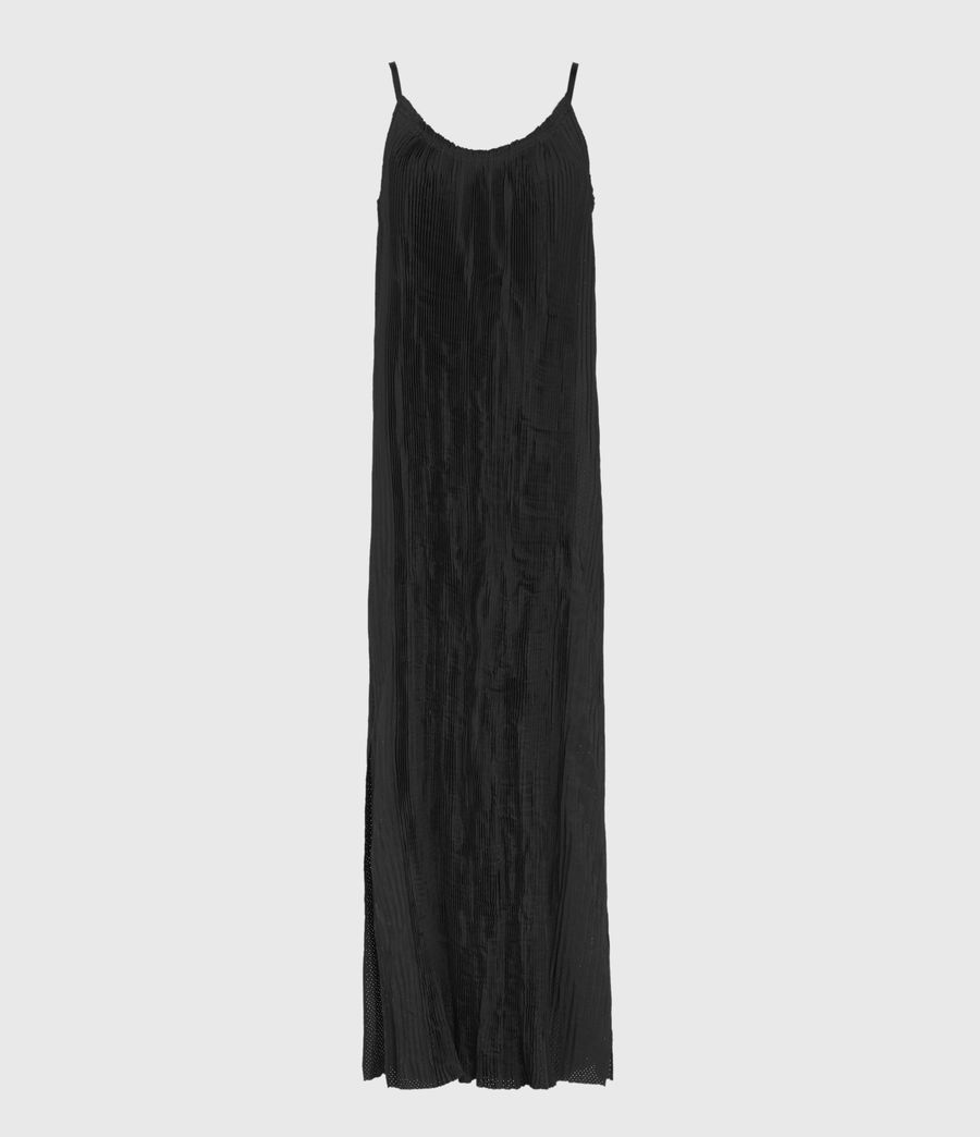 Damen Romey Pleat Dress (black) - Image 1