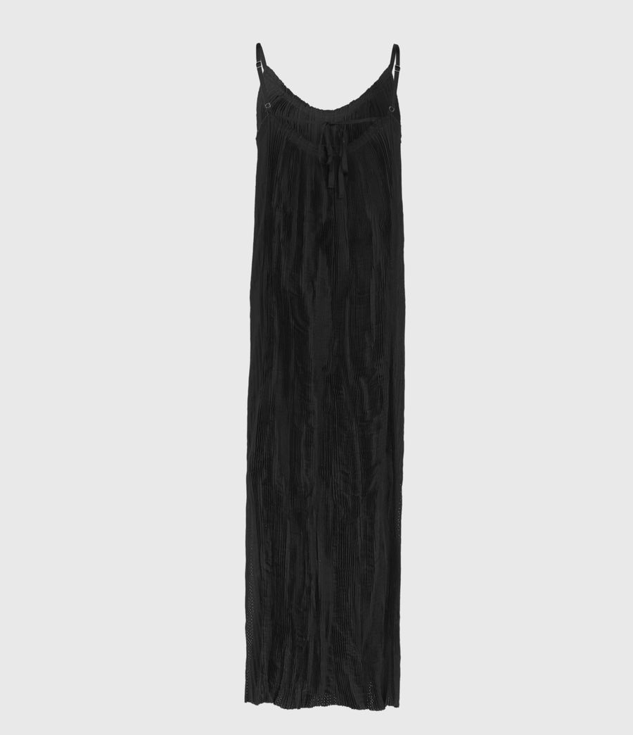 Damen Romey Pleat Dress (black) - Image 2