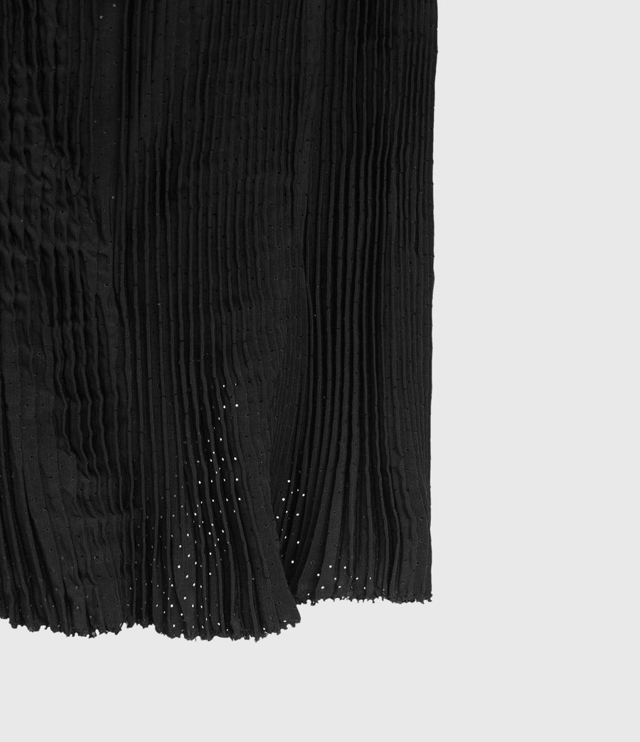 Damen Romey Pleat Dress (black) - Image 3