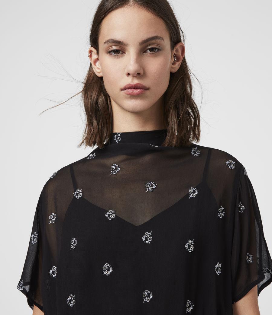 Femmes Robe à Perles Giulia Cyla (black) - Image 2