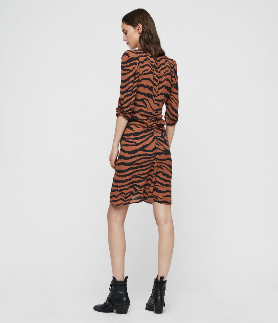 Women's Josephine Zephyr Dress (toffee_brown_black) - Image 4