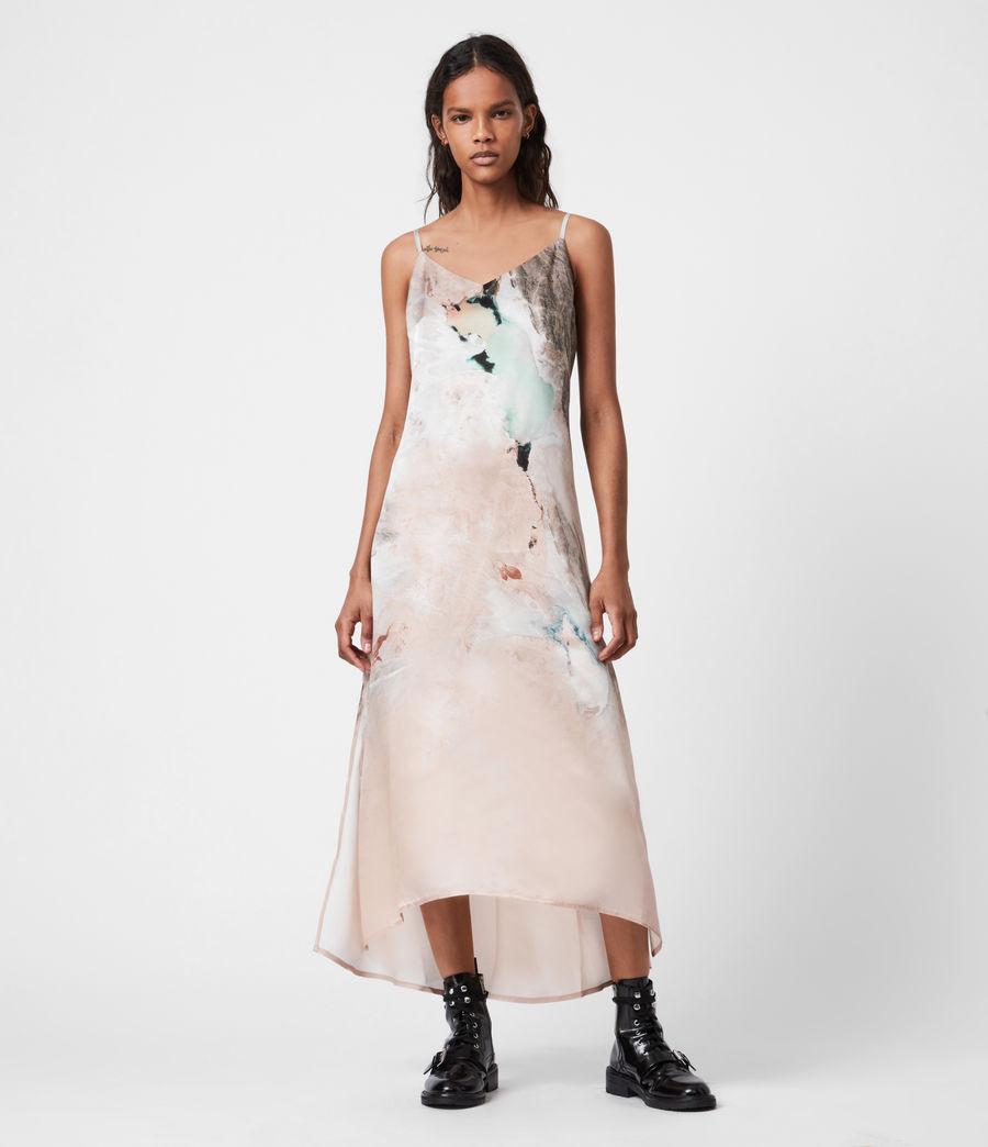 Womens Essey Silk Blend Cassus Dress (plaster_pink) - Image 6