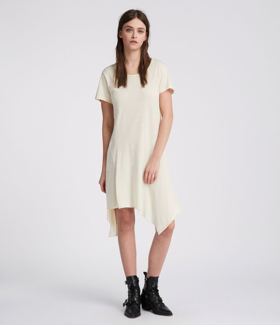 Women's Ella Fifi Tee Dress (vintage_white) - Image 1