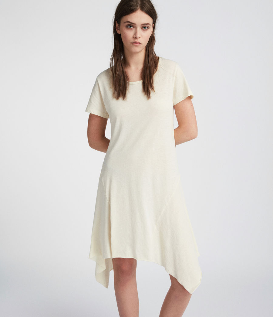 Womens Ella Fifi Tee Dress (vintage_white) - Image 2