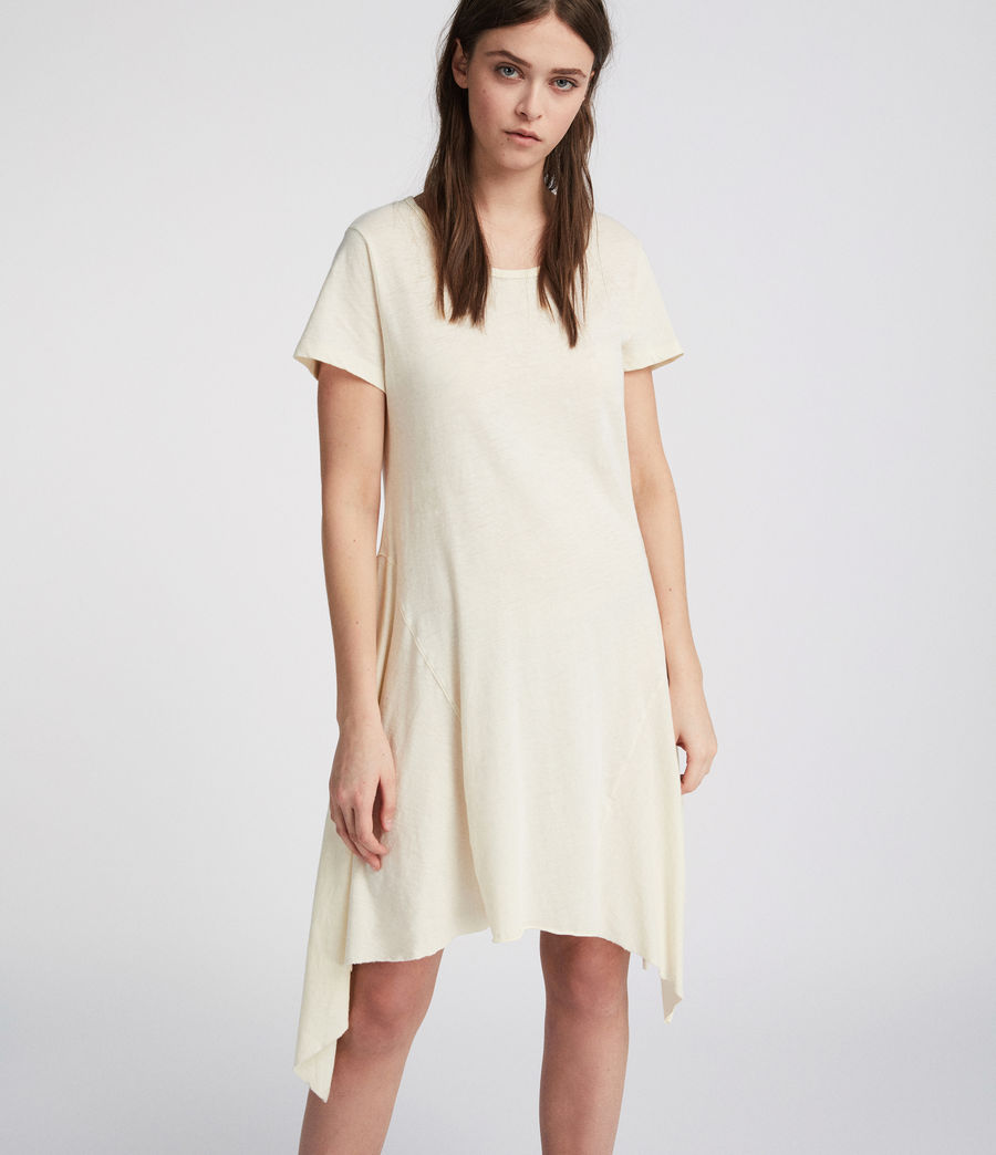 Womens Ella Fifi Tee Dress (vintage_white) - Image 3