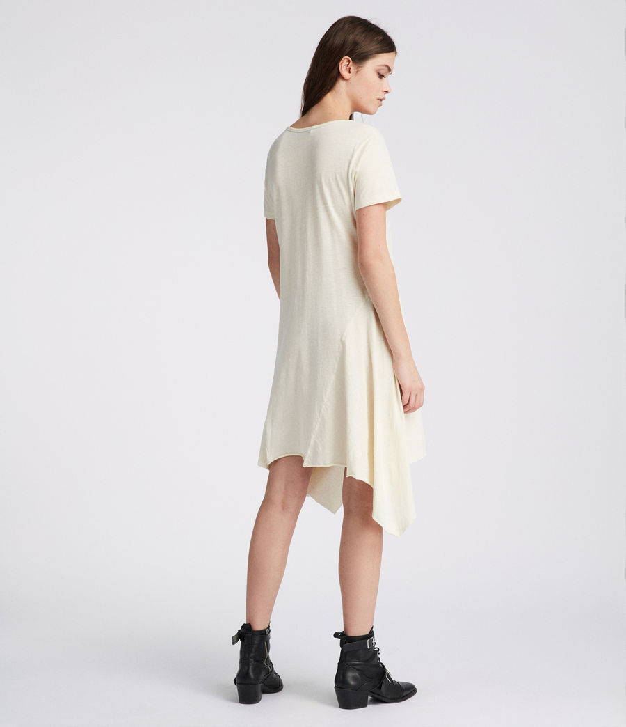 Womens Ella Fifi Tee Dress (vintage_white) - Image 4