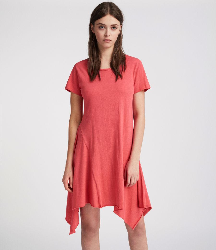 Damen Ella Fifi Tee Kleid (coral_pink) - Image 1