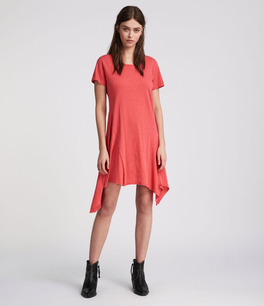 Damen Ella Fifi Tee Kleid (coral_pink) - Image 2