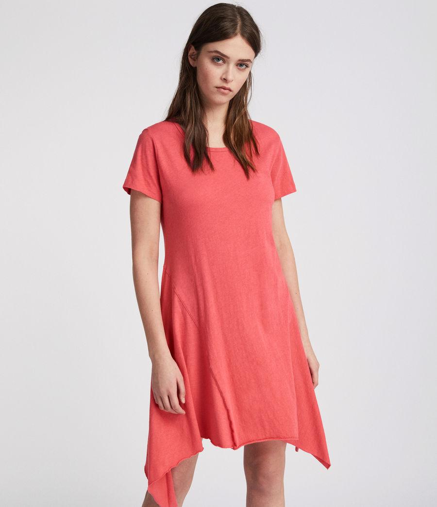 Damen Ella Fifi Tee Kleid (coral_pink) - Image 3