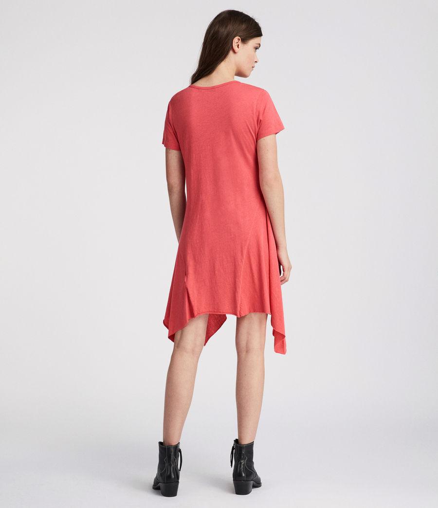 Damen Ella Fifi Tee Kleid (coral_pink) - Image 4