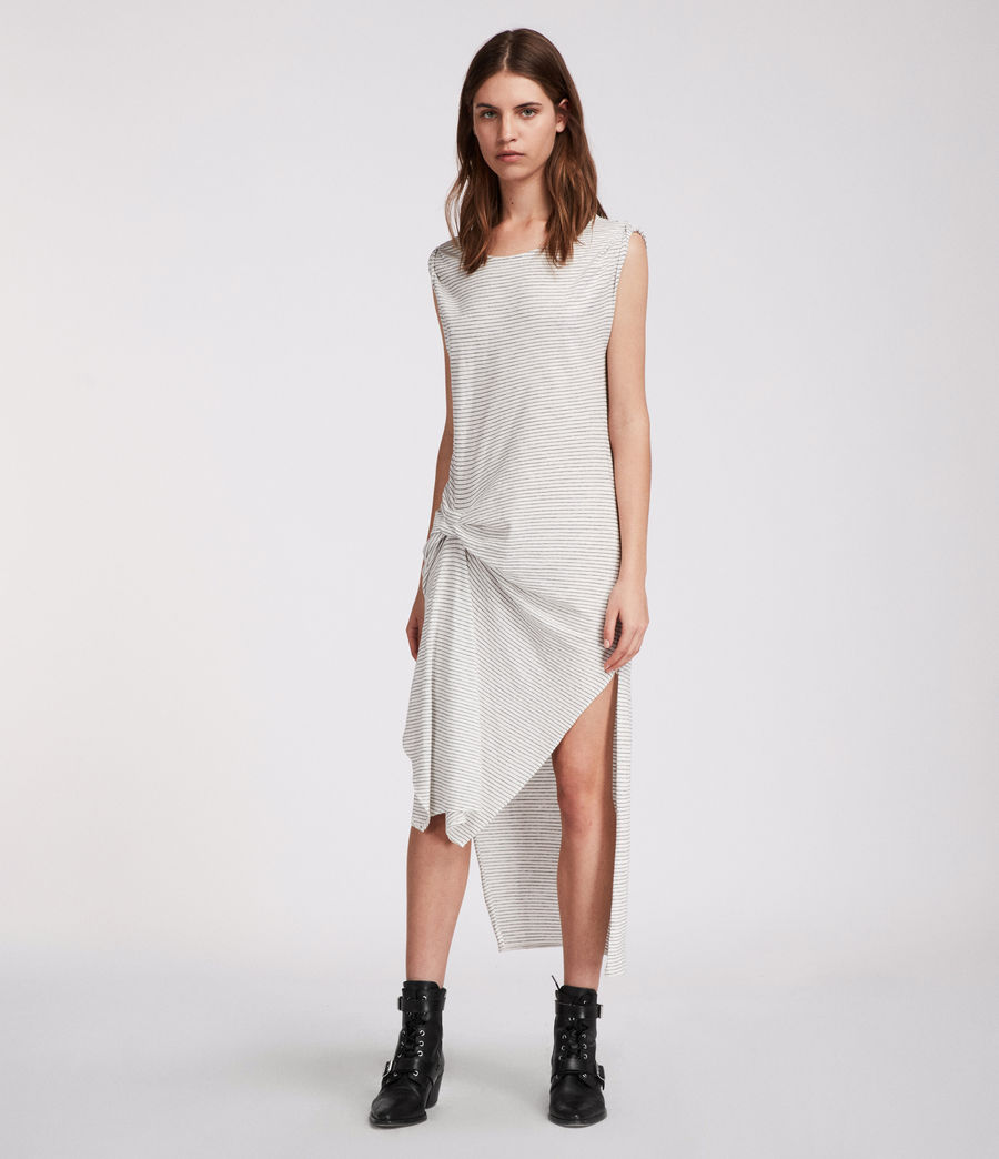 11d83cbe61dc ALLSAINTS US  Womens Riviera Stripe Dress (chalk white black)