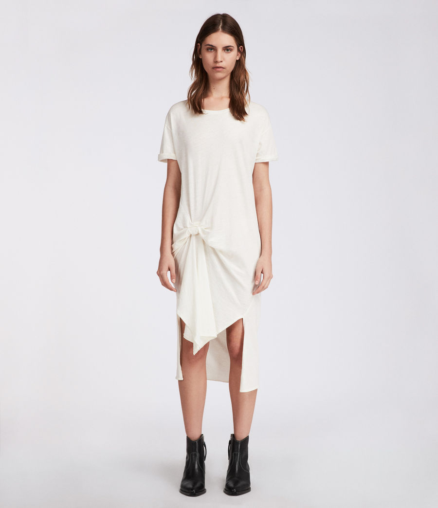 da1f5079b8e45 ALLSAINTS US: Womens T-rivi Ida Dress (chalk_white)
