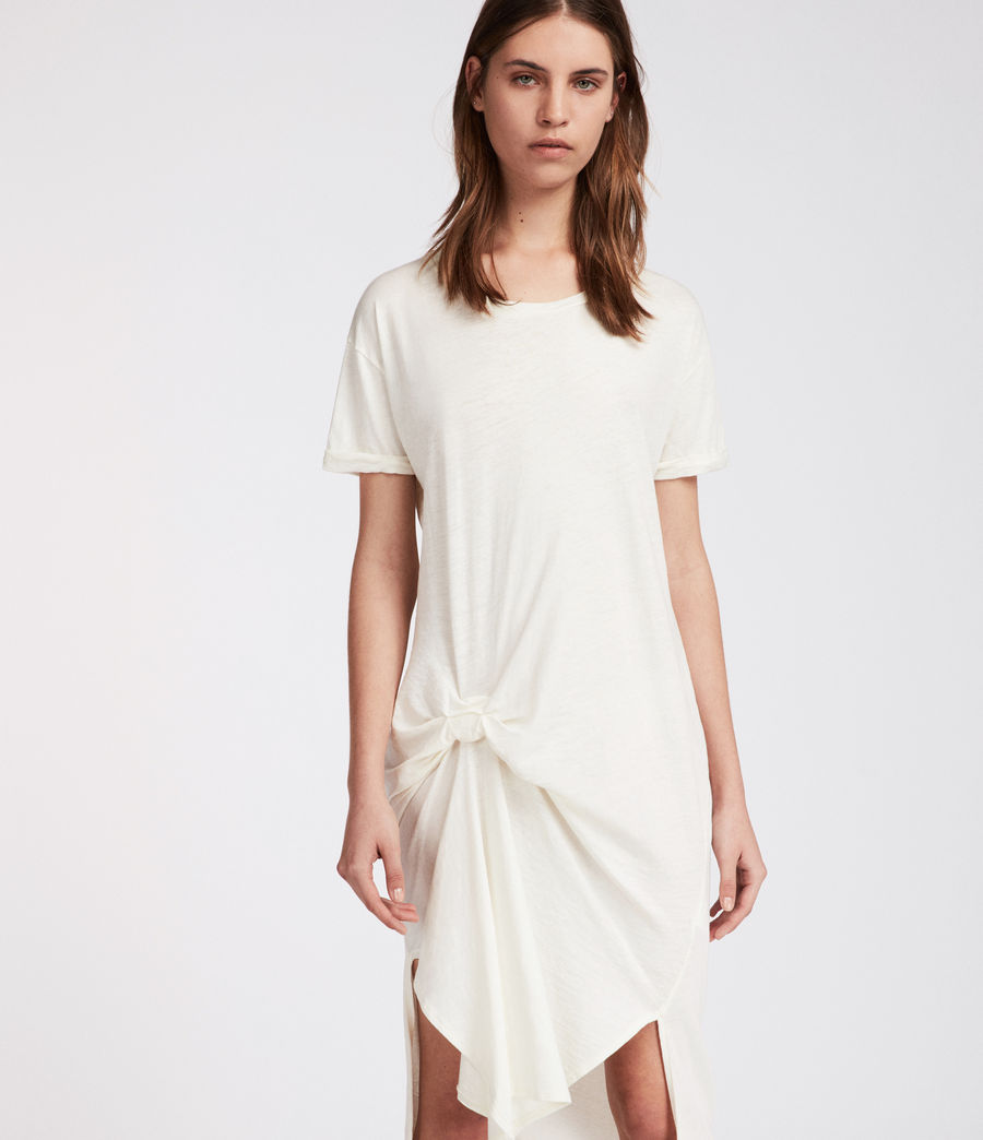 Womens T-rivi Ida Dress (chalk_white) - Image 2