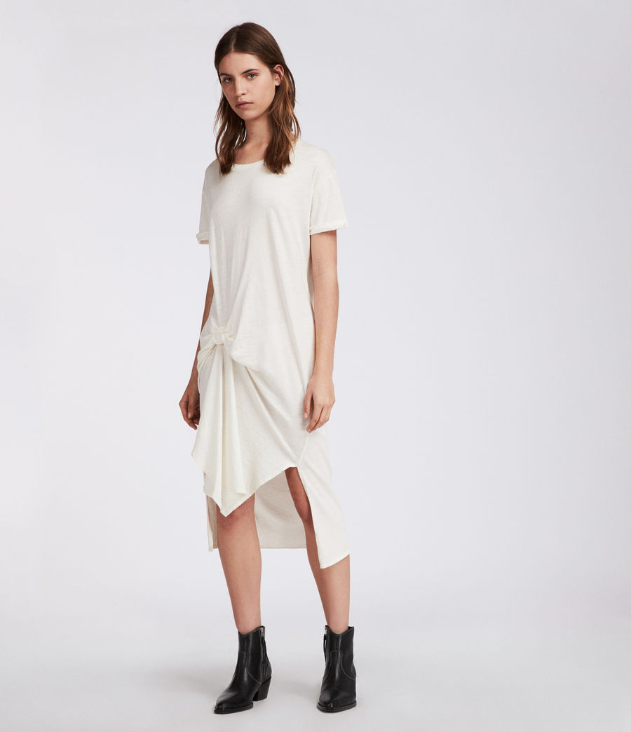 Womens T-rivi Ida Dress (chalk_white) - Image 3