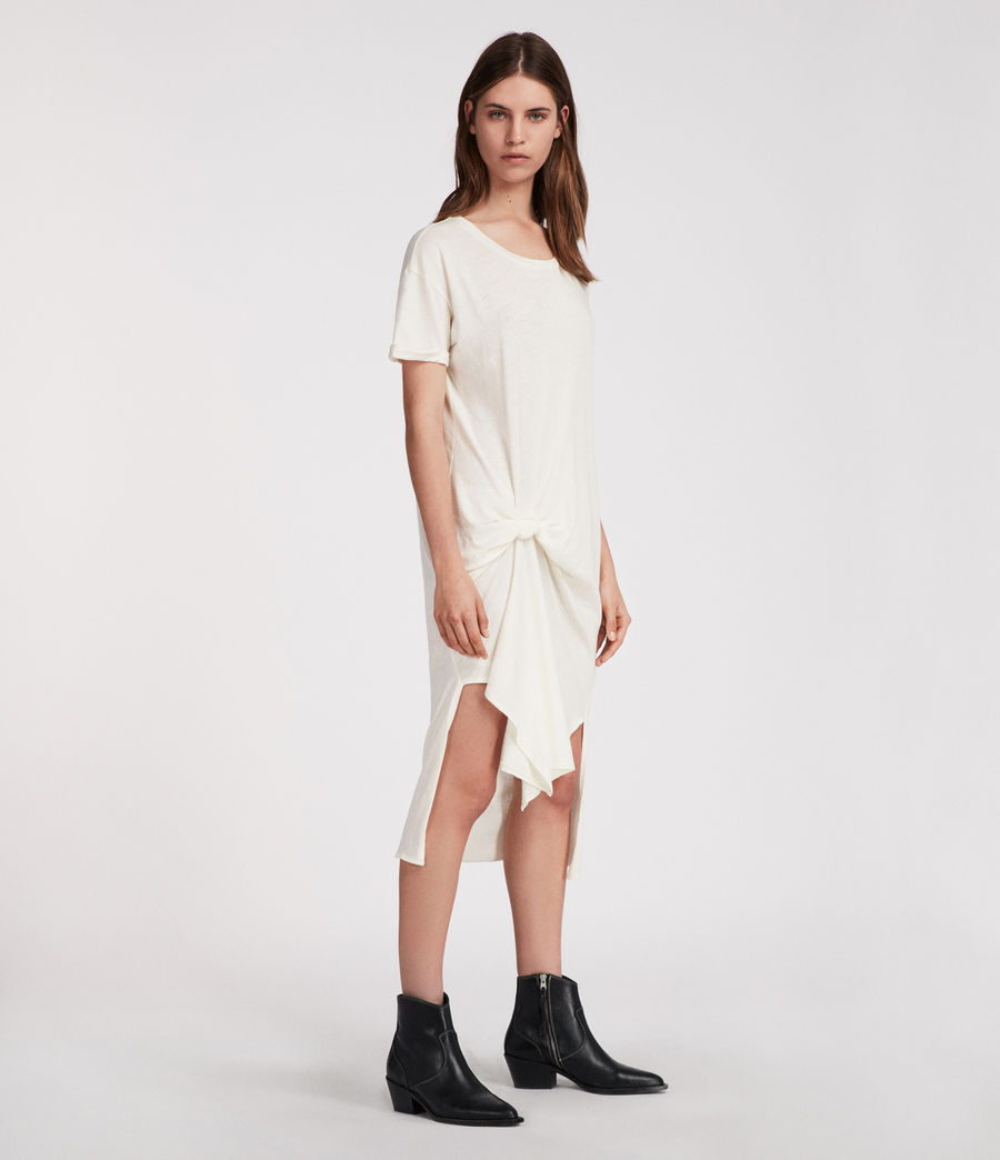 Womens T-rivi Ida Dress (chalk_white) - Image 4